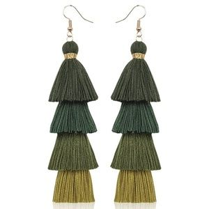 Ombre Tassel Fringe Earrings - SAVE 2/$20 - 3/$25